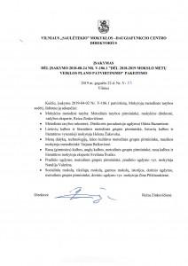 Direktorės įsakymas dėl mokytojų metodinės tarybos sudėties pakeitimo